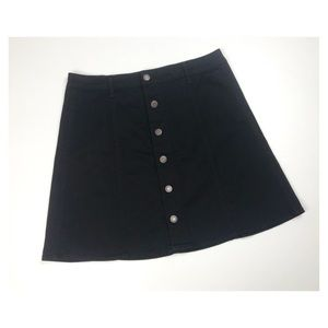 {Mossimo} Target Button Down A-Line Mini Skirt
